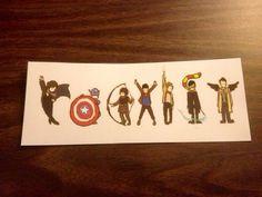 Coexist Fandom Bookmark - sherlock, avengers, hunger games, merlin, doctor who, harry potter, supernatural on Etsy, $3.00