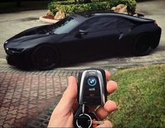 Blacked out BMW i8 with intelligent key