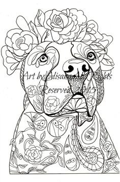 eBook Love Dogs Coloring Book for Adults Vol. 1 by AbeesArtStudio