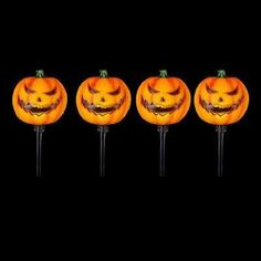 15 In Scary Jack O Lantern Pathway Markers With Led Illumination 4 Pack Lantern Pathway Jack O Lantern Halloween Pumpkins