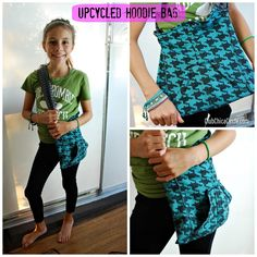 It Starts With an Idea - Upcycled Hoodie Bag | Tween Craft Ideas for Mom and Daughter