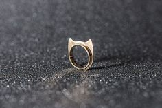 Gold Plated Ring Cat Ring Delicate Ring Handmade by iamGitelman