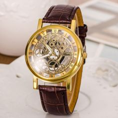 Designer's Awesome Great Deal Gift Good Price Trendy New Arrival Hot Sale Stylish Strong Character Hollow Out Men Casual Luxury Metal Watch (With Thanksgiving&Christmas Gift Box)