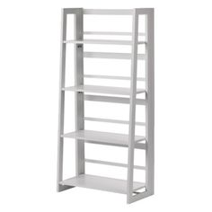 For the cozy corner in our bedroom Linon Dolce 4 Shelf Folding Bookcase - White : Target Mobile Metal Bookcase, Ladder Bookshelf, Bookshelves, Bookcase White, Furniture Hardware, Room Essentials, Home Office Furniture, Folding Furniture, My Living Room