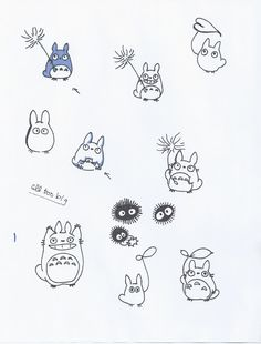 Little Black Marker: Totoro Tattoo Concepts