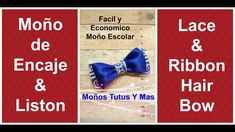 LAZO DE ENCAJE Y LISTON Paso a Paso LACE AND RIBBON HAIR BOW Tutorial DI...