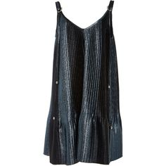 Adam Selman Topiary Metallic Pleated Swing Dress (15.810.545 VND) ❤ liked on Polyvore featuring dresses, metallic, trapeze dresses, metallic dress, pleated trapeze dress, tent dresses and adam selman dress