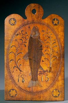 Carved Serving Board -  Pennsylvania, 1815.