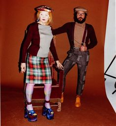 Vivienne Westwood creates a 12-piece men and women's collection with The Woolmark Company, the first collaboration between the two brands.