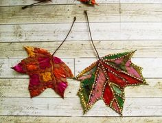 basteln mit blättern blätter-bemalen-dekorieren-herbst Leaf Crafts, Fall Crafts, Diy And Crafts, Arts And Crafts, Autumn Art, Autumn Leaves, Fall Art Projects, Art Journal Techniques, Painted Leaves