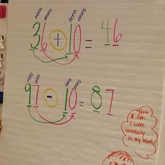 Students need to build number sense in place value. Tips for teaching using common core standards to engage and help their students learn math in the first grade classroom. First Grade Classroom, 1st Grade Math, Math Classroom, Second Grade, Classroom Ideas, Math Charts, Math Anchor Charts, Math Place Value, Place Values