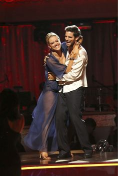 """Week 2 -  Brant Daugherty and Peta Murgatroyd Rumba Song: """"Underneath Your Clothes"""" by Shakira Judges' Scores: 8+7+8=23"""