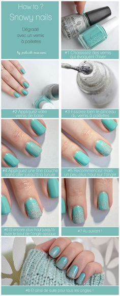 Snowy Nail Art--perfect for foggy days and the winter!