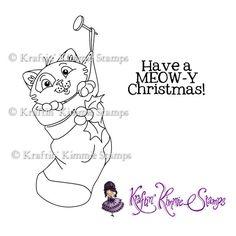 Meow-y Christmas : Kraftin Kimmie Stamps