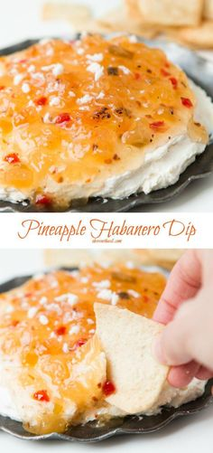 One of the easiest appetizers you could ever make and it's so good! via This pineapple habanero dip is so creamy and spicy and overall easily delicious! this pineapple habanero dip is perfect for year round. Yummy Appetizers, Appetizers For Party, Easiest Appetizers, Appetizer Recipes, Party Dips, Party Games, Mexican Appetizers Easy, Appetizer Dips, Dinner Parties