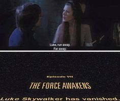 Luke took Leia's advice way too seriously.