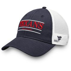 52363a839 Houston Texans NFL Pro Line by Fanatics Branded Primary Bar Trucker  Adjustable Hat Navy White