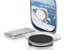 Port Solar Charger - Harness the power of the sun. Whether in a plane, in a car, or just looking for an emergency power source for your smartphone, this sleek solar charger makes it easy to stay powered up. GetdatGadget.com