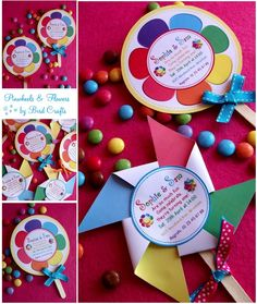 pinwheel party ideas | Bird's Party Blog: Pinwheels and Flowers Party