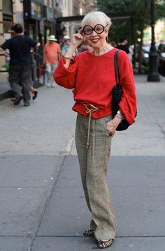 Fashion Over Seventy - Rita Ellis Hammer. It's in the attitude, isn't it?