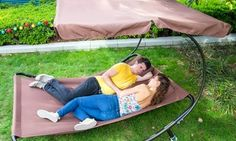 Groupon - Double Sun Lounger with Canopy in Choice of Colours for £64.99 With Free Delivery. Groupon deal price: £64.99