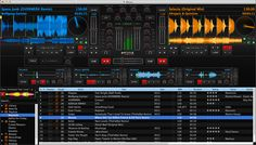 This software is called MIXXX. It's really cool and useful. If you're new at dj-ing this app is going to help you a lot. It's pretty easy when you get use to it.