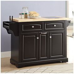 Black Kitchen Cart With Spice Rack at Big Lots.