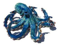 Large Glass Octopus Sculpture FREE SHIPPING by EmergentGlassworks, $250.00