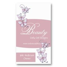Glass Butterflies Design 2 Business Card Template by MarloDee Designs {mrssocolov2 @ zazzle}