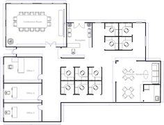 Office Layout with Meeting Room