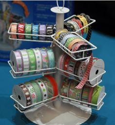 Ribbon holder/organizer, holds up to 54 spools!