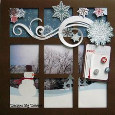 Baby It's Cold Outside. LOVE it, but why stop at scrapbooking or card design. Lets do the same thing to a window