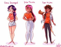 """Aphrodite Cabin<<Silena and Drew look so proud of being pretty then Piper's just like """"you touch me, I break you"""""""