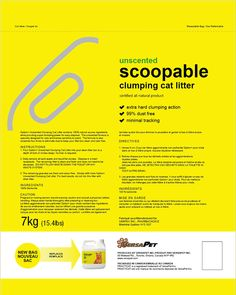 no name/ sans nome. New packaging design for their scoopable cat litter. - New Design Group Inc. No Name, Package Design, News Design, Case Study, Packaging, Names, Group, Packaging Design
