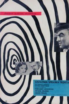 Trent's Last Case (Herbert Wilcox, Polish design by Wojciech Fangor Cool Posters, Film Posters, Polish Posters, Poster Fonts, Campaign Posters, Poster Pictures, Art Graphique, Zine, Vintage Posters