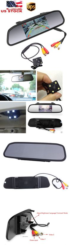 Rear View Monitors Cams and Kits: 4.3 Car Tft Lcd Rear View Monitor Mirror + Hd Ccd Reverse Backup Camera Kit -> BUY IT NOW ONLY: $32.99 on eBay!