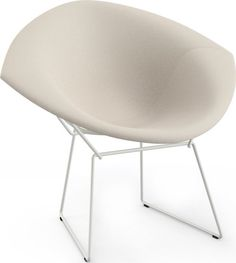 The Diamond Chair is an astounding study in space, form and function by one of the master sculptors of the last century. Like Saarinen and Mies, Bertoia found s