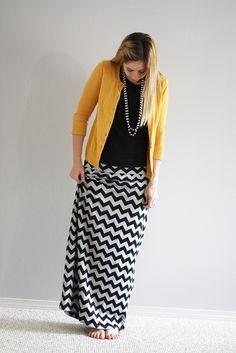 Chevron knit maxi skirt by Sew Much Ado!