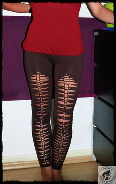 Tribal Legging Fehu handmade cut out Yoga Goa by BlackCatDesing