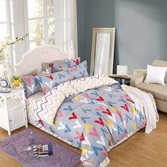 V Alphabet Bedding Set Pillowcase Lien Duvet Cover Twin Full Queen King  King +