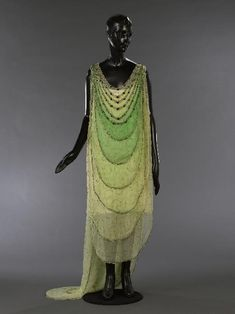 Evening gown attributed to Madeleine Vionnet / Lesage Brodeur, 1924. Front