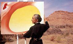 Georgia O'Keeffe Desert Paintings | American artist Georgia O'Keeffe. Photograph: Tony Vaccaro/Getty ...