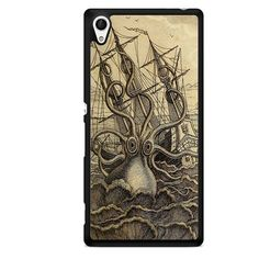 Kraken Art TATUM-6228 Sony Phonecase Cover For Xperia Z1, Xperia Z2, Xperia Z3, Xperia Z4, Xperia Z5