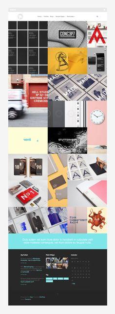 Mug - Portfolio Theme. The creative team of Themelovin designed and developed the beautiful Mug WordPress theme. It's a grid based portfolio theme for any