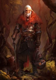 Witcher fanart by Tibor Sulyok on ArtStation at https://www.artstation.com/artwork/9yXXN