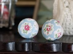 finished decoupage drawer knobs