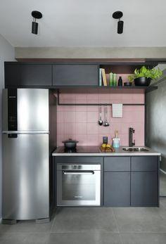 apartamento-pandora-studio924 Pandora, Kitchen Cabinets, 30, Interiors, Design, Home Decor, Small Apartment Bathrooms, Condo Bathroom, Storage Spaces