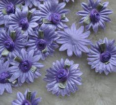 200-40pcs-Ribbon-Daisy-W-rose-wedding-Appliques-Craft-Girl-Lots-mix-U-Pick-E96
