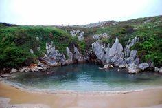 Gulpiyuri- somewhere on the Spanish Mediterranean coastline. A completely inland beach!