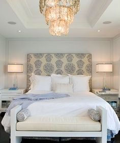 "Lately I've become slightly obsessed with ""refreshing"" my master bedroom (much to the dismay of my husband).  I've been perusing bedrooms and out of nowhere I suddenly started noticing that truly luxurious, serene, enveloping bedrooms often have benches perched at the end of the bed...."